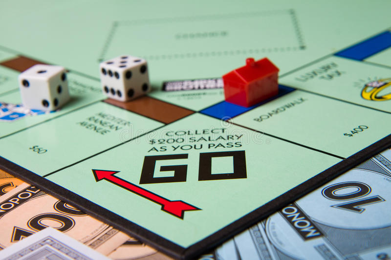 Monopoly Game Vector Collect 200 And Pass Go Editorial Image Image Of