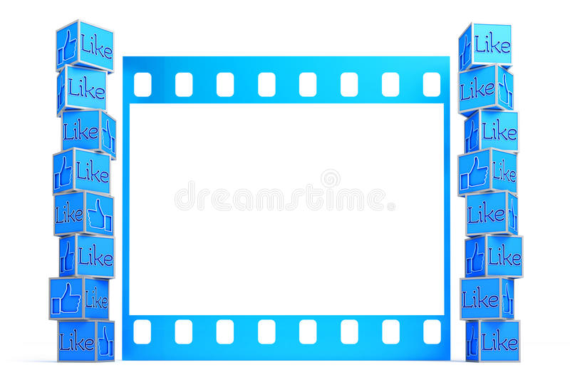 A Collection Of Thumbs Up In Front Of Film Frame Template Editorial - Border Template For Word