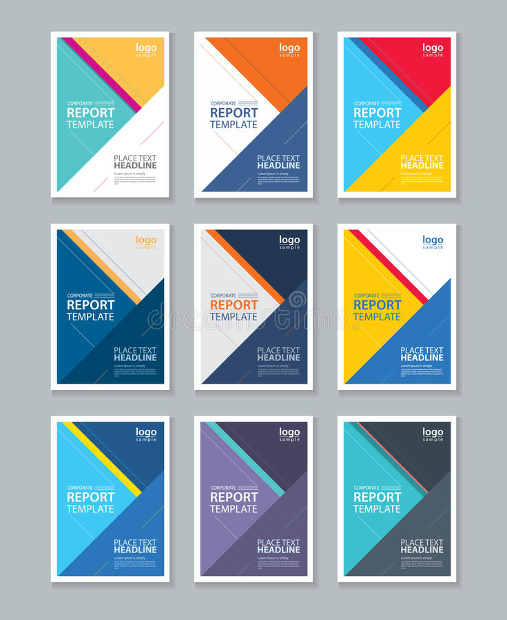 Color Full Cover Page Brochure, Flyer ,report Layout Design Template