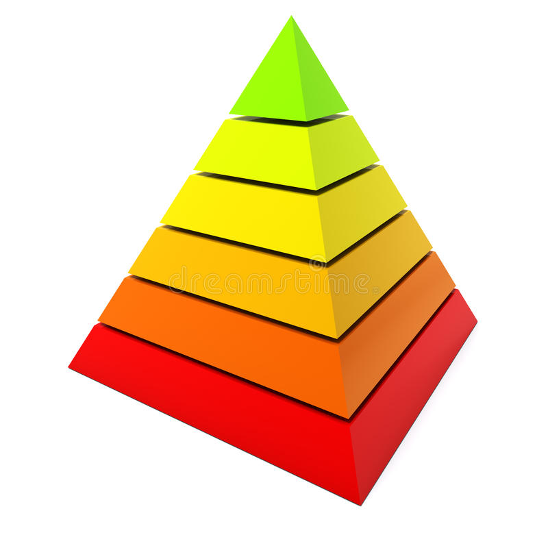 Color pyramid diagram stock illustration Illustration of object