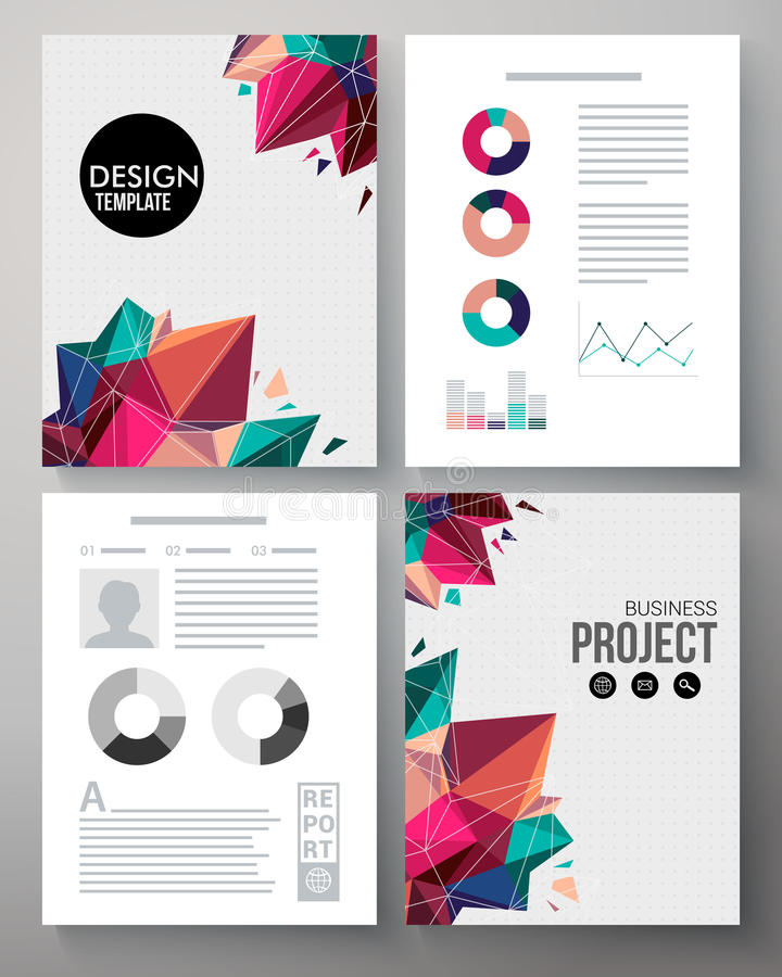Colorful Design Template For A Business Project Stock Vector
