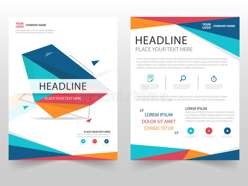 Colorful Geometric Leaflet Brochure Flyer Annual Report Template