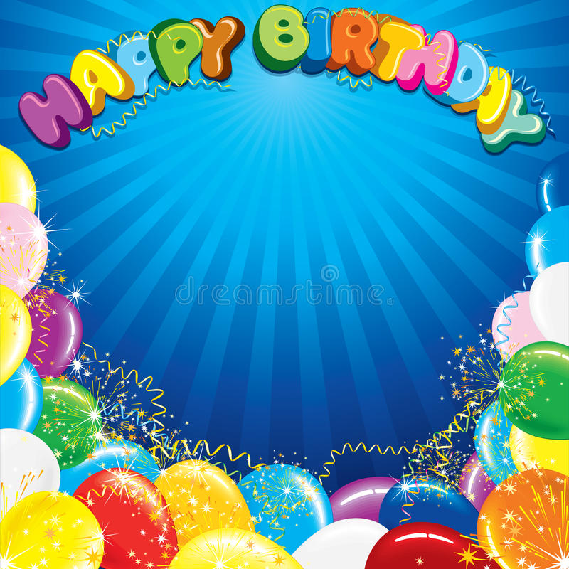 Colorful Happy Birthday Background Template Stock Vector - birthday backround