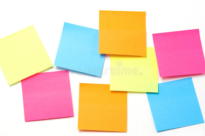 Colorful Sticky Notes - Horizontal Format Stock Image - Image of - stickey notes