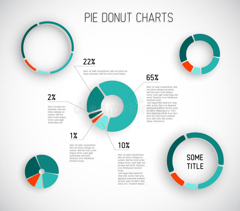 Colorful Vector Pie Chart Templates Stock Vector - Illustration of - pie chart templates