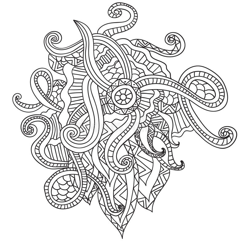 Coloring Pages For Adults Coloring BookDecorative Hand Drawn - Culring Pajis