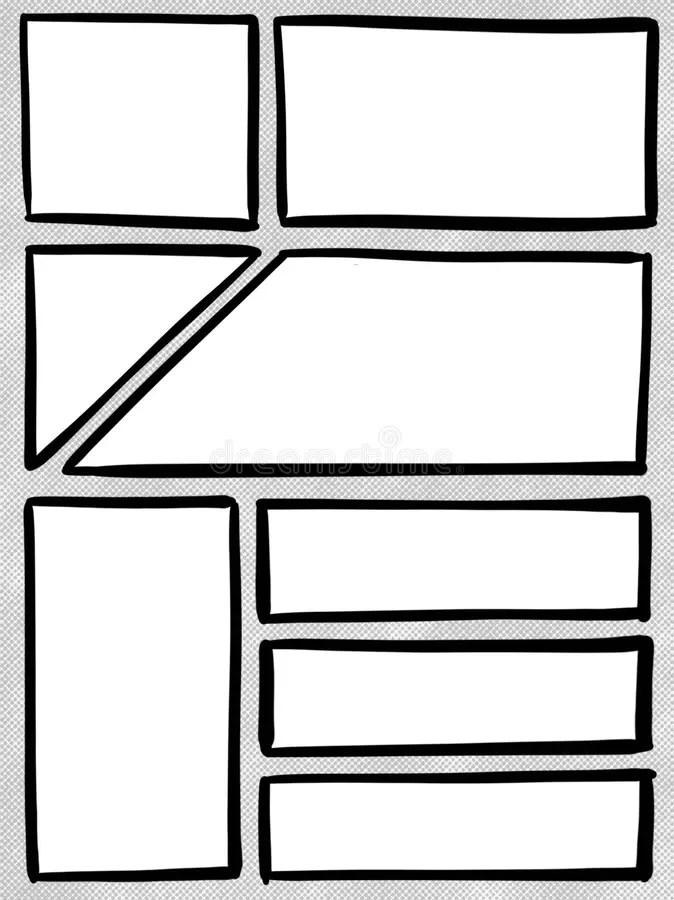Comic Strip Box Panel Template Cartoon Illustration Stock Photo - comic panel template