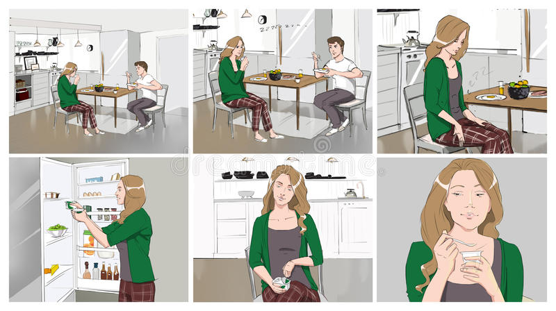 Commercial Storyboards Stock Illustration - Image 78262161 - commercial storyboards