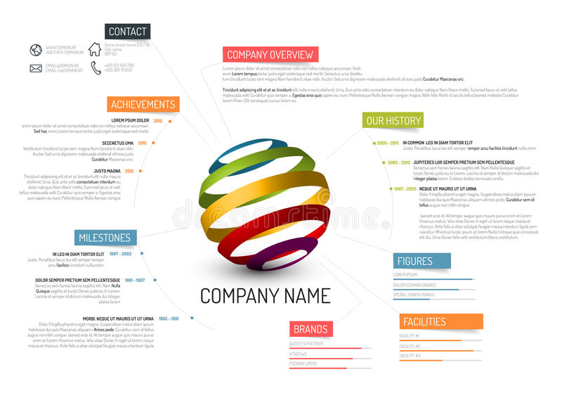 Company overview template stock illustration Illustration of