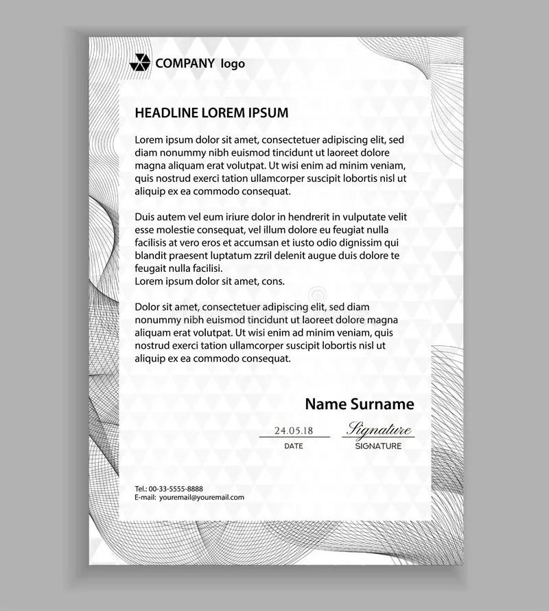 Letterhead Template Printable Business Letter Layout Modern - letterhead layout