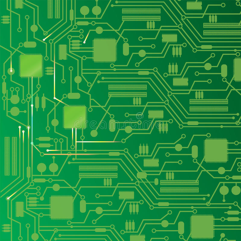 Computer Circuit Board Design Background Stock Vector - circuit design background