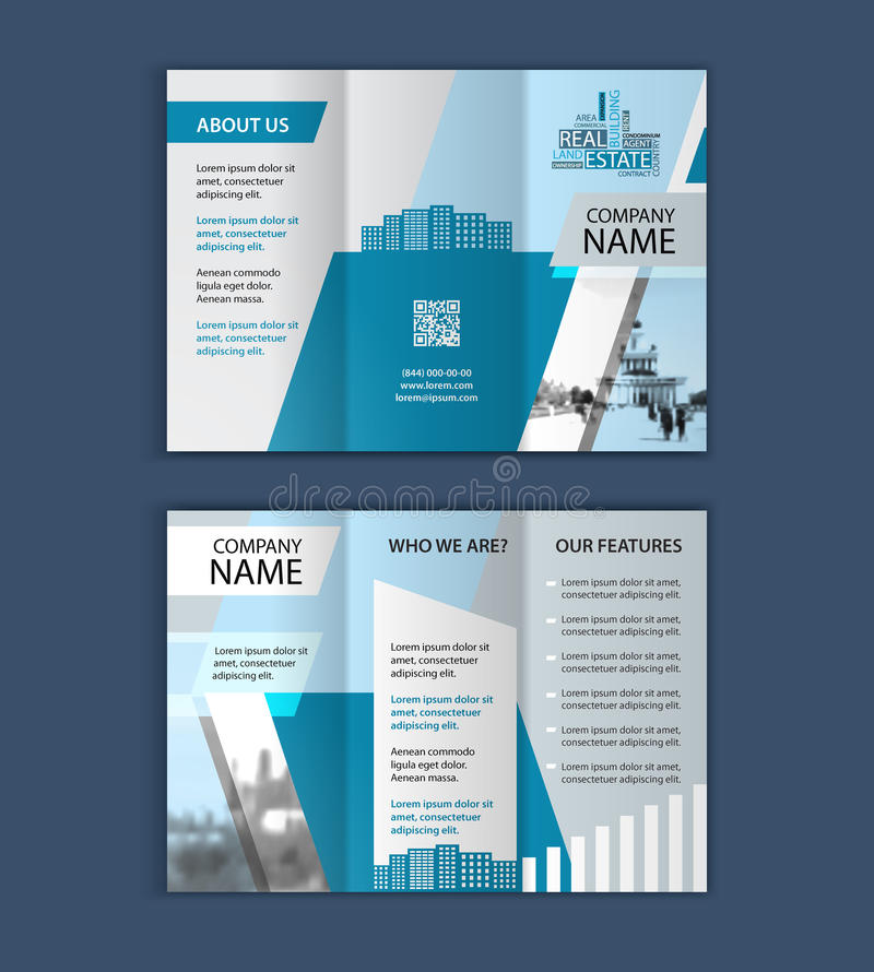 Concept Of Architecture Design With Photo Frame Trifold Brochure