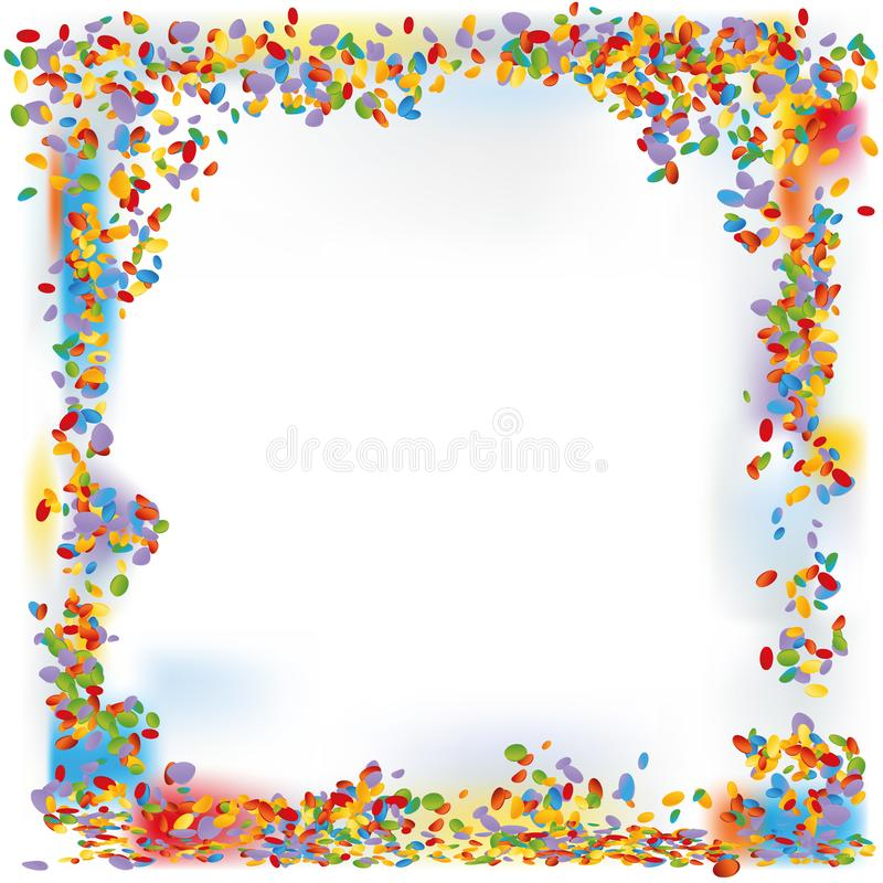 Confetti forms a frame stock vector Illustration of fete - 109207250 - invitation forms
