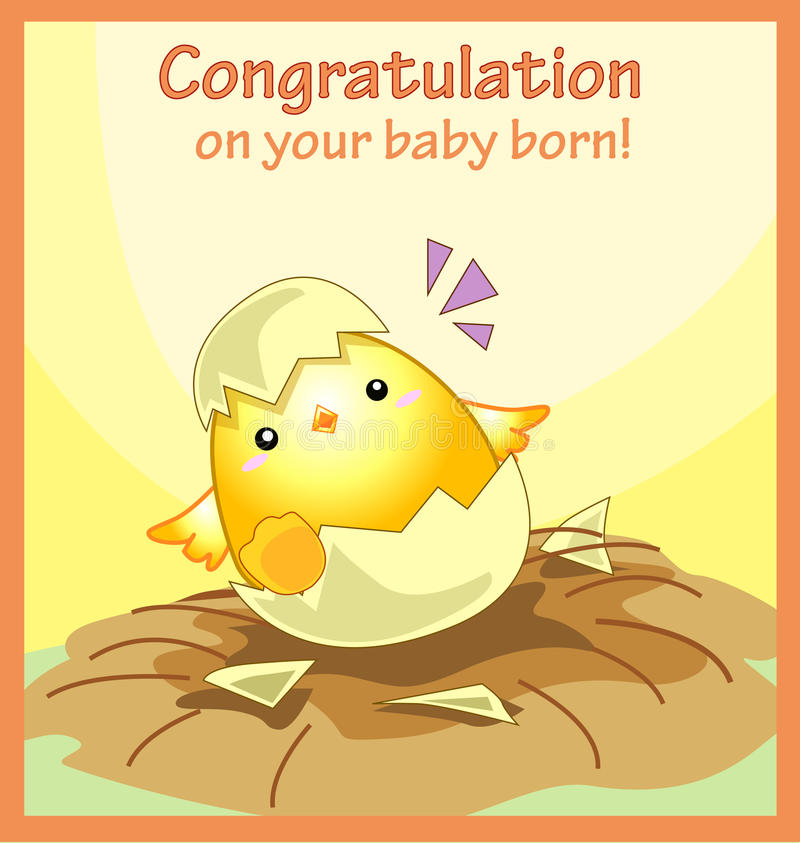 Congratulation On Your Baby Born Greeting Card Stock Vector - baby congratulation card