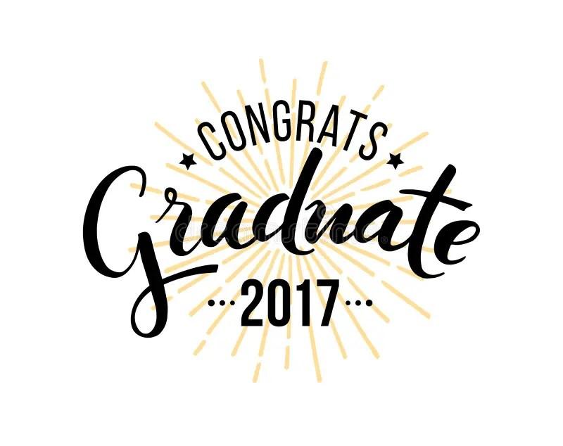 Congratulations Graduate 2017 Stock Vector - Illustration of - congratulation graduation