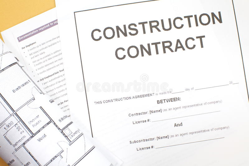 Construction Contract stock photo Image of ballpoint - 32788066 - free construction contracts