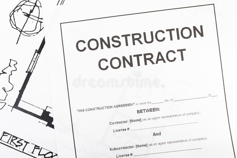 Construction Contract Paper Stock Photo - Image of office, closeup - blank construction contract
