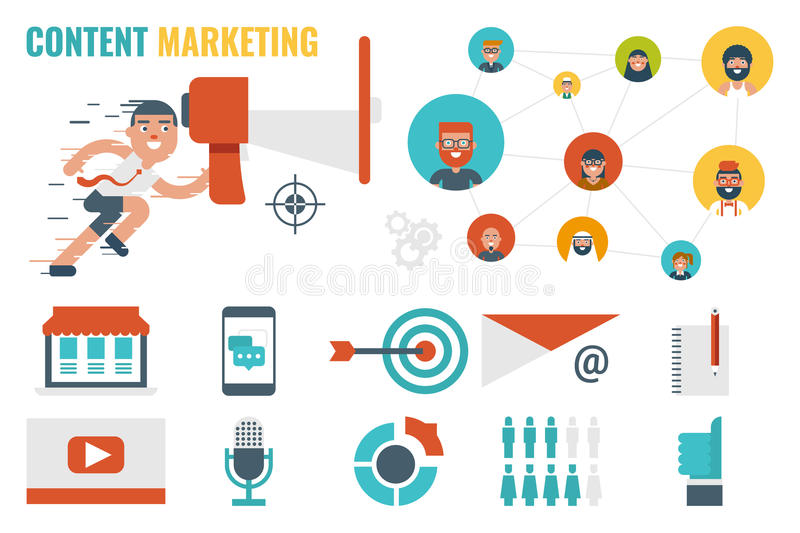Content Marketing Concept stock image Image of strategy - 63685719