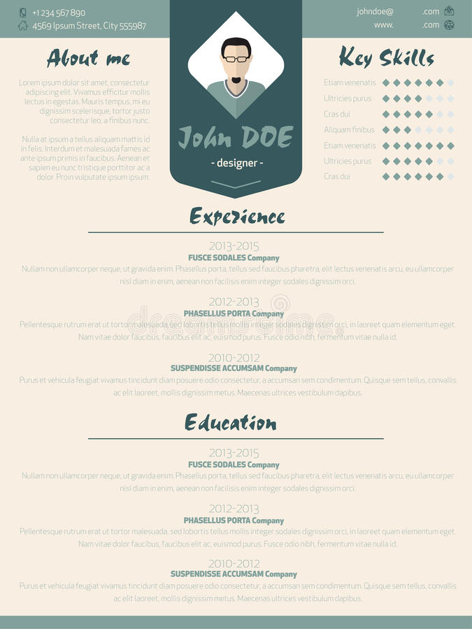 Cool New Modern Resume Curriculum Vitae Template With Design Ele