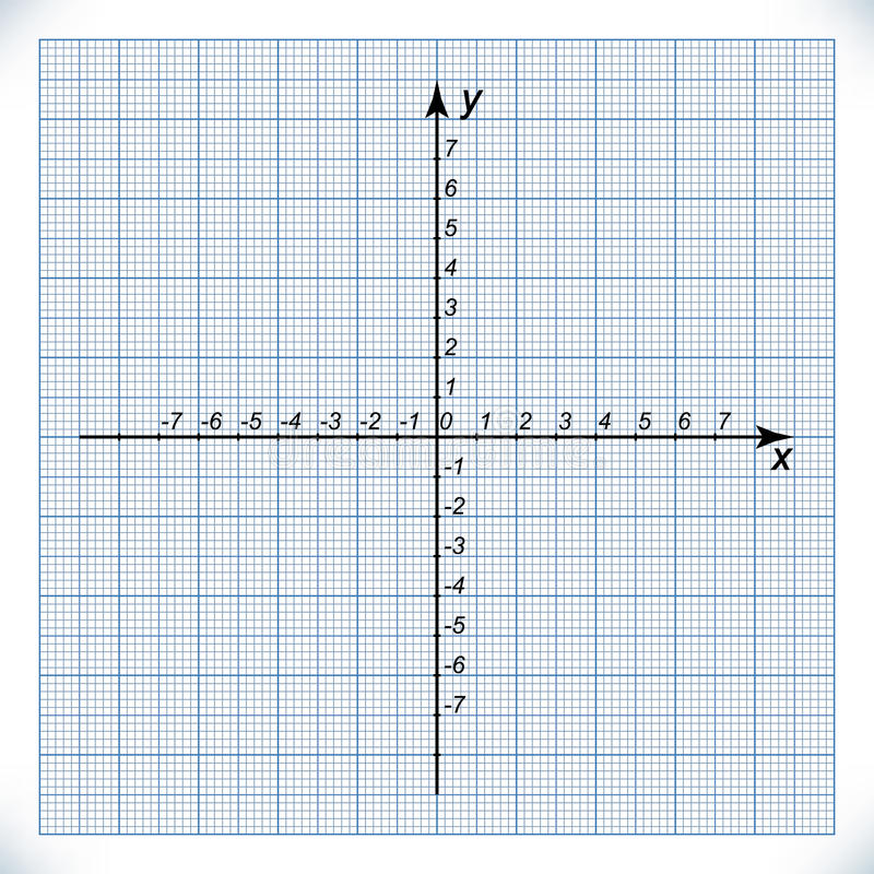 Coordinate Axis On The Graph Paper Stock Vector - Illustration of
