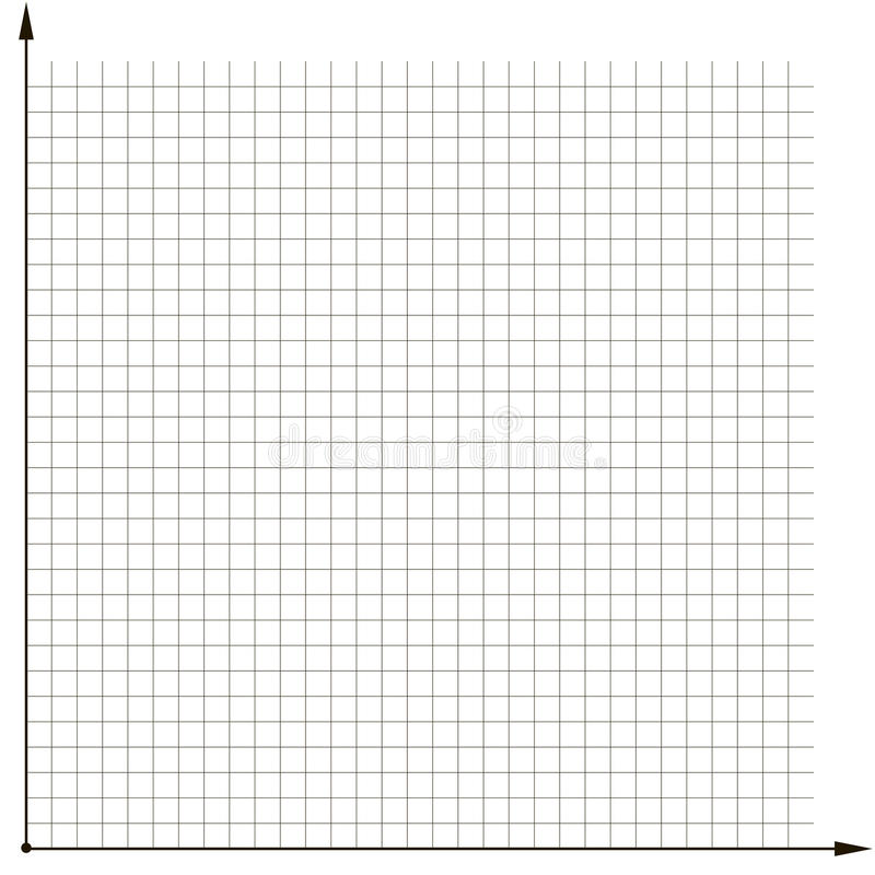 Coordinate Grid Template Chart To Analyze The Chart Stock Vector