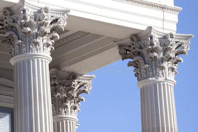 Corinthian columns stock image Image of column, financial - 7622463