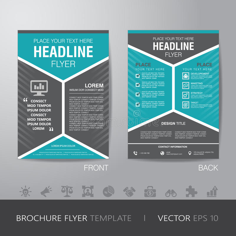 Corporate Hexagonal Brochure Flyer Design Layout Template In A4 - informational flyer template
