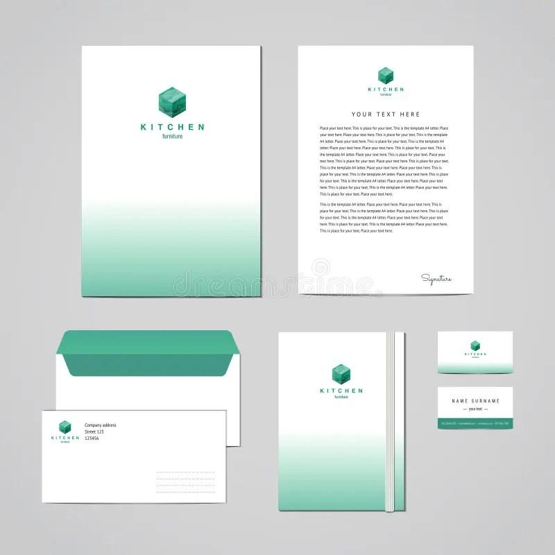 Corporate Identity Furniture Company Turquoise Design Template