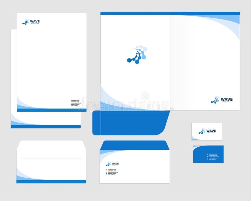 Corporate Identity Template Design, Visual Marketing Brand, Business - letterhead and envelope design