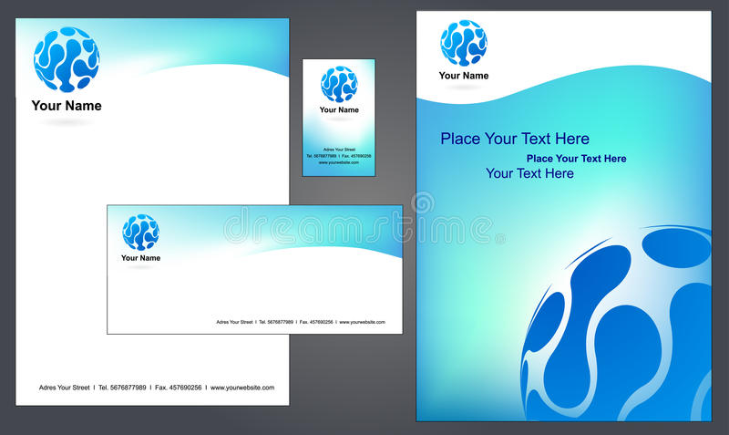 Corporate Letterhead Template #4 - Royalty Free Stock Photography - corporate letterhead template