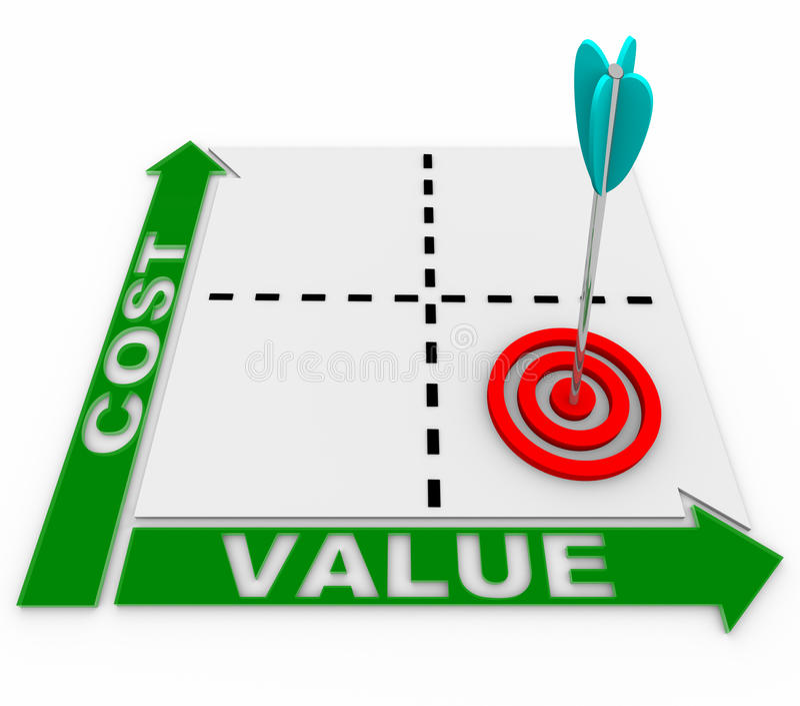 Cost Value Matrix - Arrow And Target Stock Illustration - value matrix