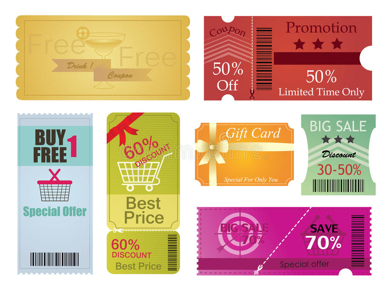 Coupons And Gift Card Design Stock Vector - Illustration of paper