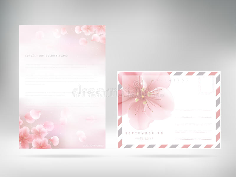 Cover Design Template Letterhead Floral Paper Cover Stock Vector