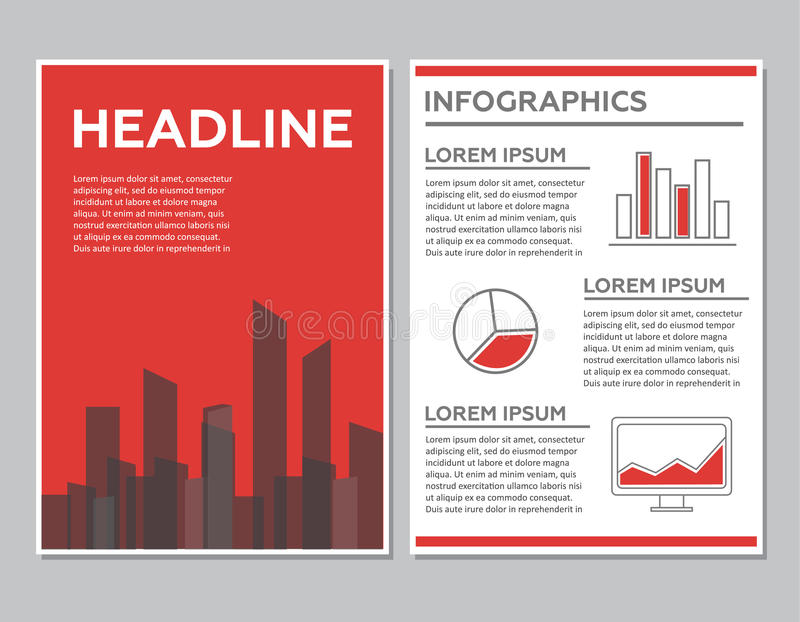 Creative Brochure Template Design With Infographic Chart Abstract - phamplet template