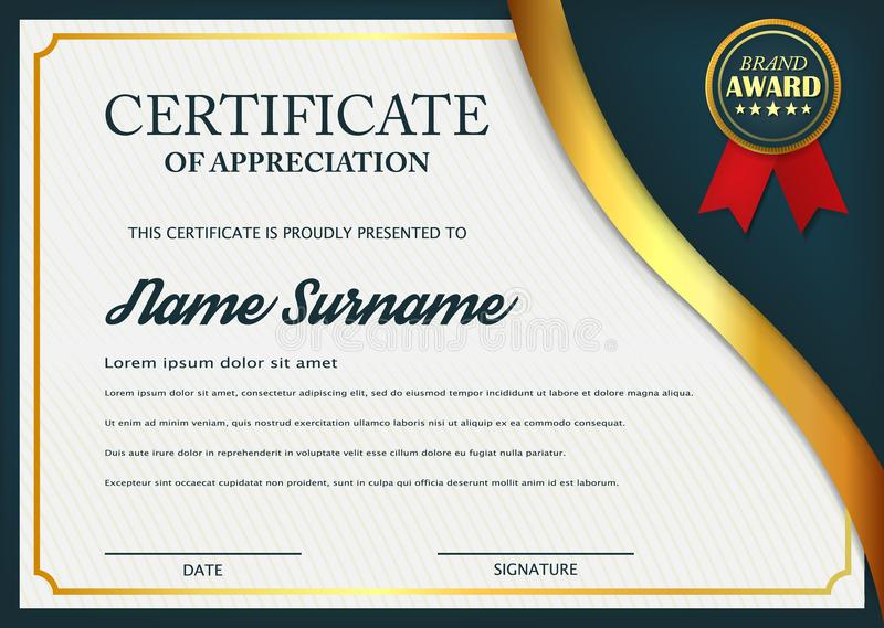 Creative Certificate Of Appreciation Award Template Certificate - Sample Certificate Of Appreciation