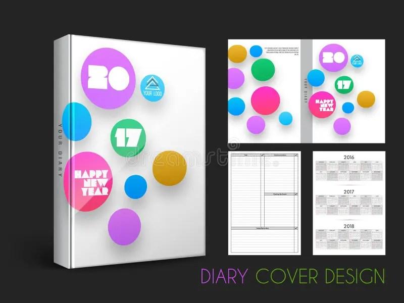Creative Diary Cover Design Stock Illustration - Illustration of - diary design