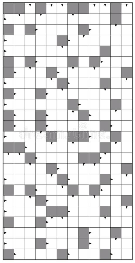 Crossword Puzzle Vertical Background Stock Vector - Illustration of - blank crossword template