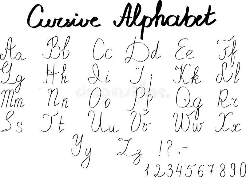 90 cursive alphabet letter designs