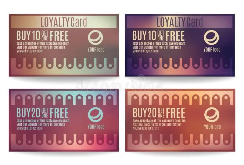 Customer Loyalty Card Templates Stock Vector - Illustration of - membership cards templates