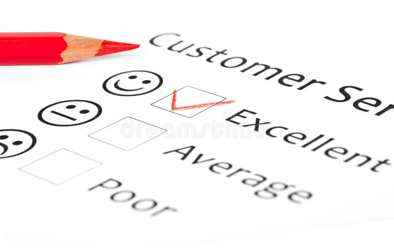 Customer Satisfaction Survey Form Stock Image - Image of business