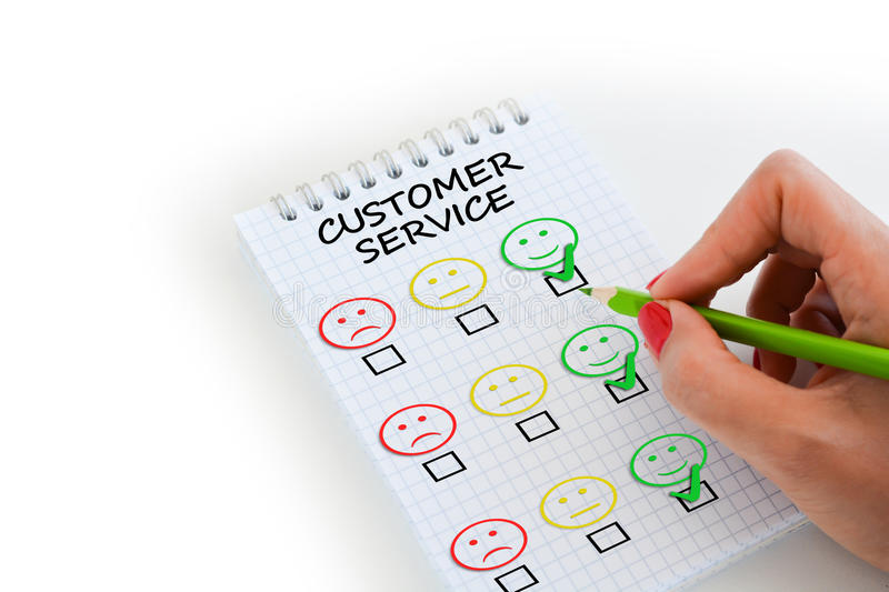 Customer Satisfaction Survey Or Questionnaire Stock Photo - Image of