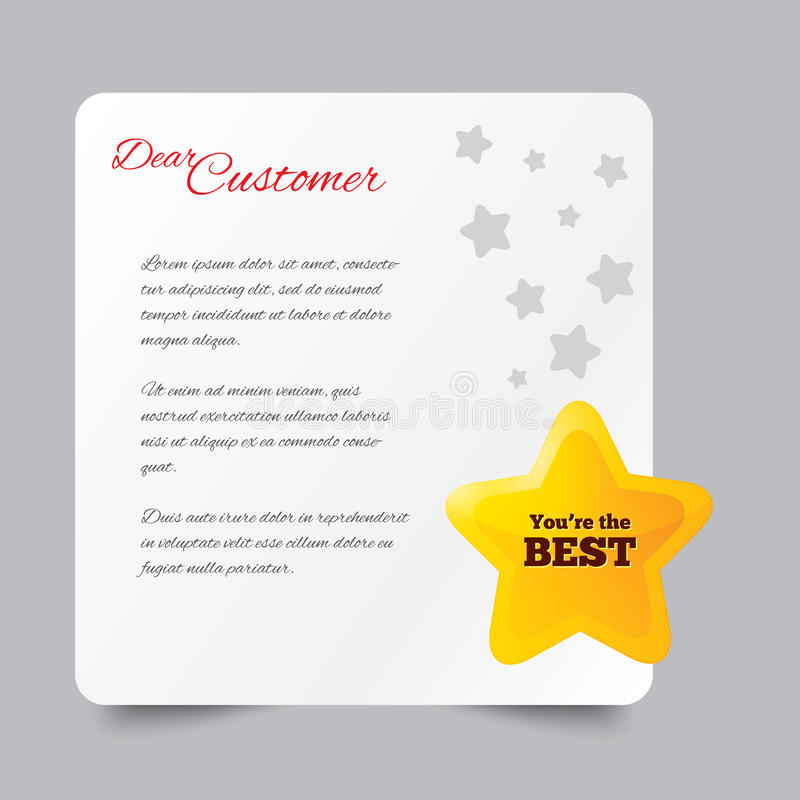 Customer Service Letter Thank You For Buying Stock Vector - customer service letter