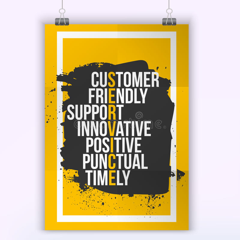 Customer Service Quote On Grunge Stain Mock Up For Quotes A4 Easy