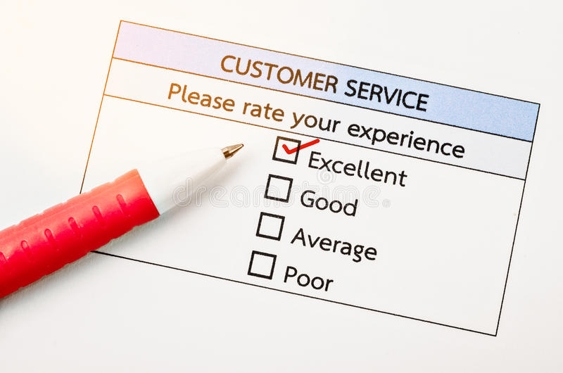 Customer Service Survey Form Stock Photo - Image of questionnaire - survey form