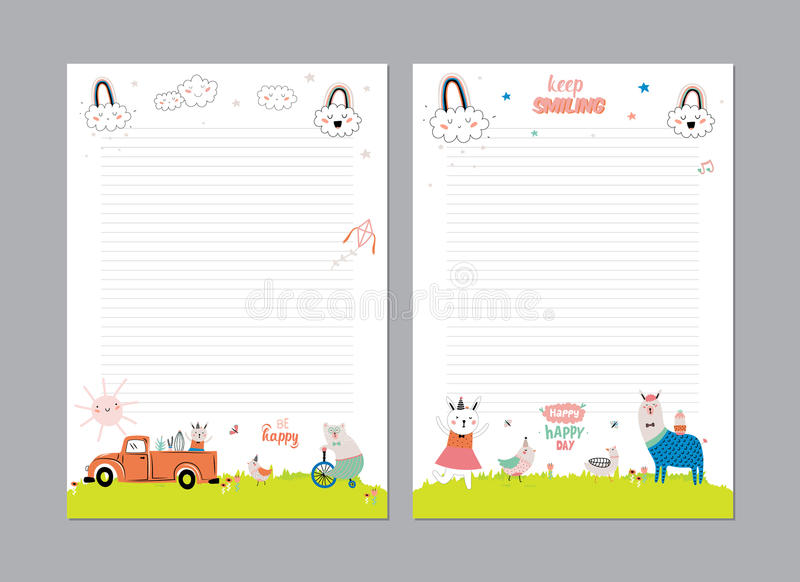 Cute Calendar Daily Planner Stock Vector - Illustration of notepad - calendar daily planner