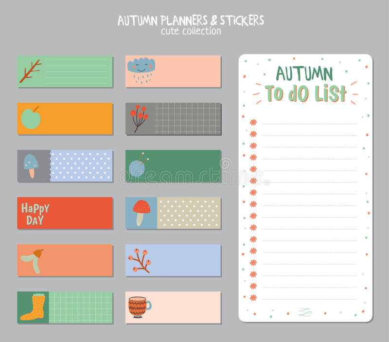 Cute Daily Calendar And To Do List Template Stock Vector - daily to do template