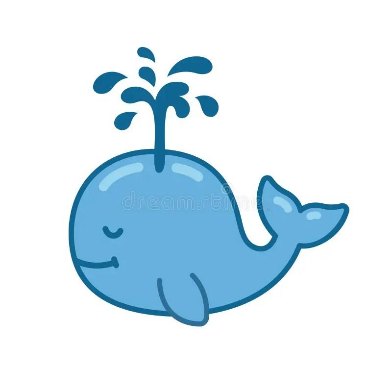 Cute Baby Dolphin Wallpaper Cute Cartoon Whale Stock Vector Illustration Of Fountain