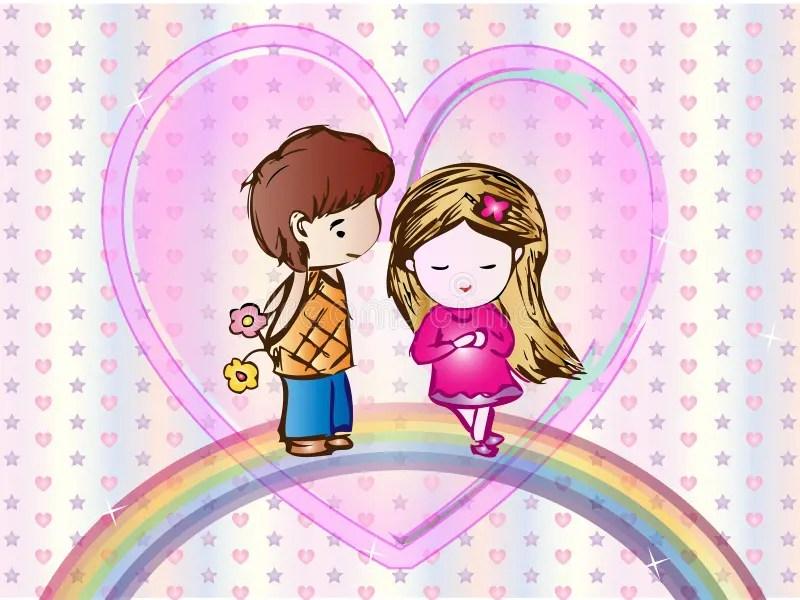 Cute Tofu Desktop Wallpaper Cute Love Cartoon Wallpaper Stock Vector Illustration Of