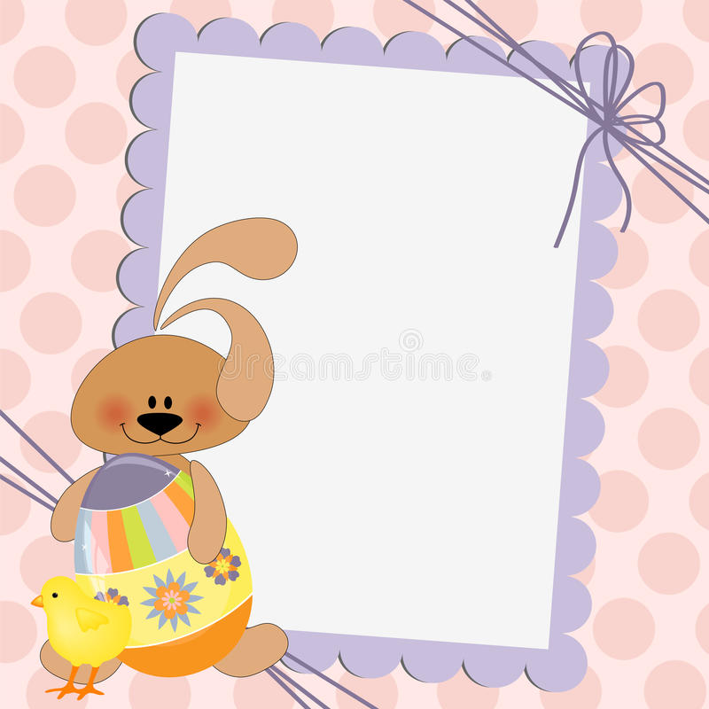 Cute Template For Easter Postcard Stock Vector - Illustration of
