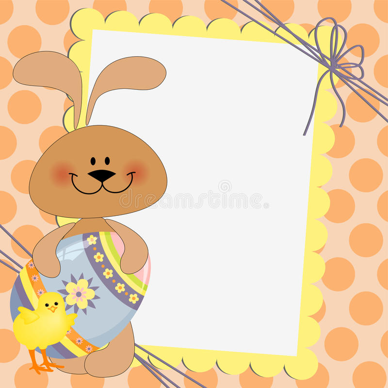 Cute Template For Easter Postcard Stock Vector - Image 19507693 - sample easter postcard template